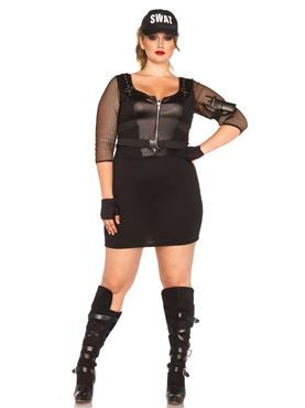 Adult Plus Size SWAT Officer Costume Thumbnail