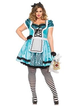 Adult Plus Size Tea Party Alice Costume