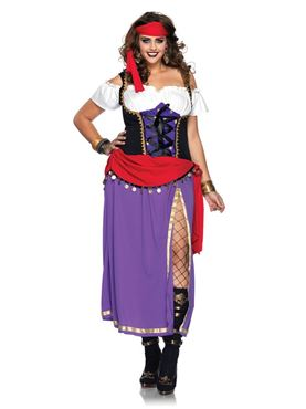 Adult Plus Size Travelling Gypsy Costume
