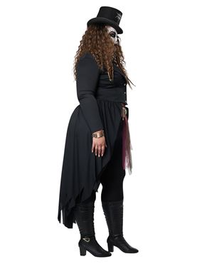 Adult Plus Size Voodoo Magic Costume - Back View