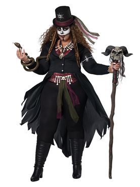 Adult Plus Size Voodoo Magic Costume