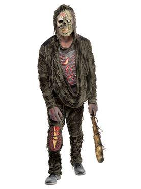 Adult Plus Size Zombie Creeper Costume