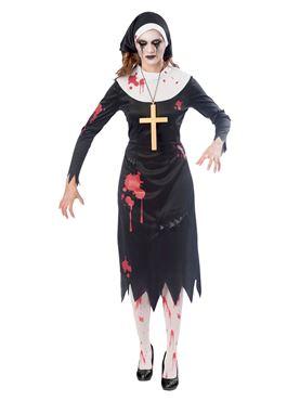 Adult Plus Size Zombie Nun Costume