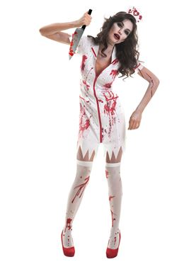 Adult Plus Size Zombie Nurse Costume