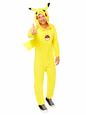 Adult Pokemon Pikachu Costume Couples Costume