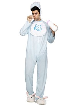 Adult Poopie Jammies Costume - Back View
