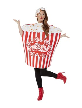 Adult Popcorn Costume - Back View