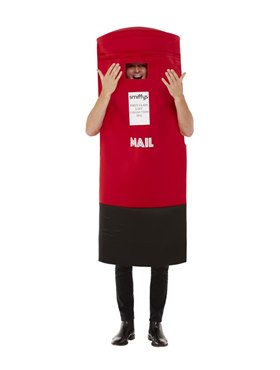 Adult Post Box Costume - Back View