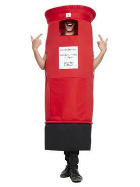 Adult Post Box Costume - Back View