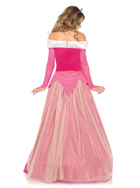 Adult Deluxe Princess Aurora Costume - Back View