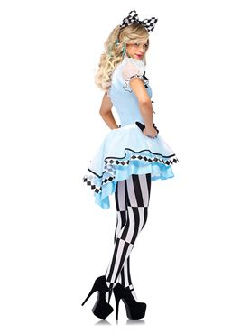 Adult Psychedelic Alice Costume - Back View