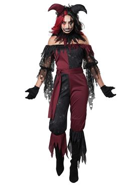 Adult Psycho Jester Costume Couples Costume