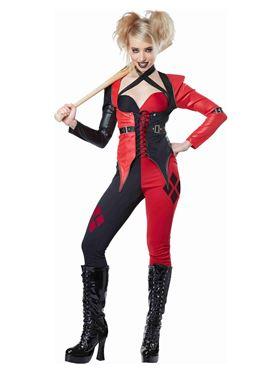 Adult Psycho Jester Chick Costume