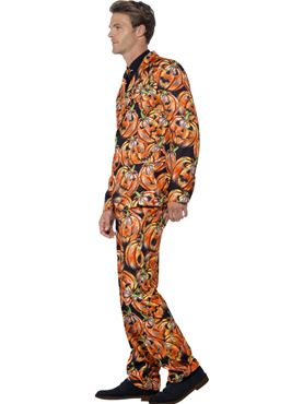 Adult Pumpkin Stand Out Suit - Back View