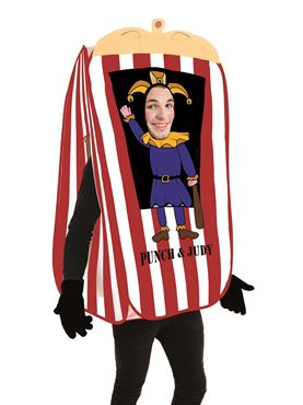 Adult Punch the Puppet Booth Costume Couples Costume
