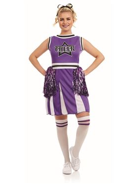 Adult Purple Cheerleader Costume