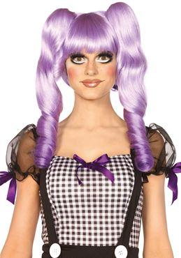 Adult Purple Dolly Bob Wig
