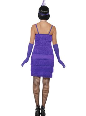 Adult Purple Flapper Costume - Side View