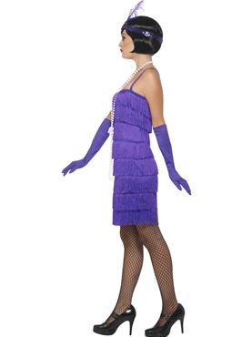Adult Purple Flapper Costume - Back View