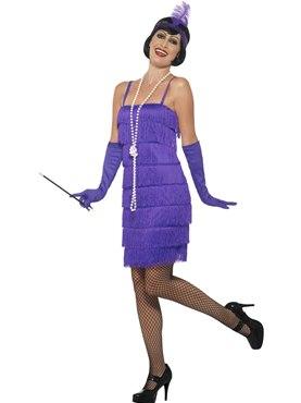 Adult Purple Flapper Costume