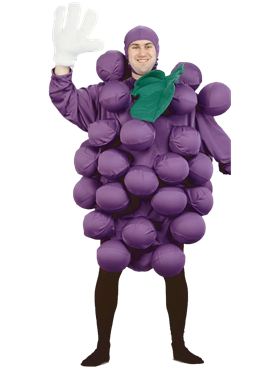Adult Purple Grapes Costume Couples Costume