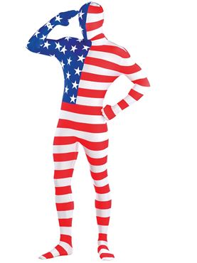 Adult American Flag Party Suit Costume