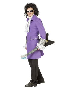 Adult Purple Rain Prince Costume - Side View