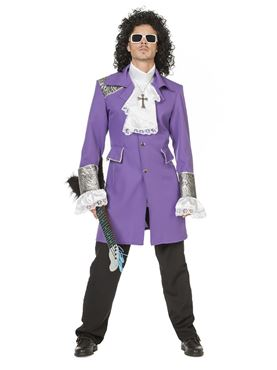 Adult Purple Rain Prince Costume - Back View
