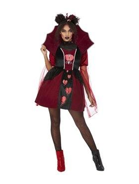 Adult Queen of Broken Hearts Costume - Back View