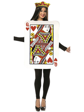 Adult Queen of Hearts Playing Card Costume Couples Costume