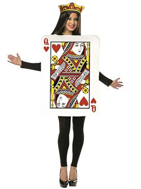 Adult Queen of Hearts Playing Card Costume