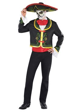 Adult Senor Day of the Dead Costume