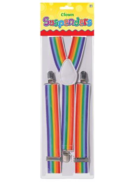 Adult Rainbow Clown Suspenders
