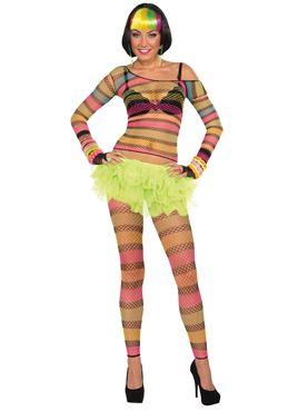 Adult Rainbow Fishnet Top