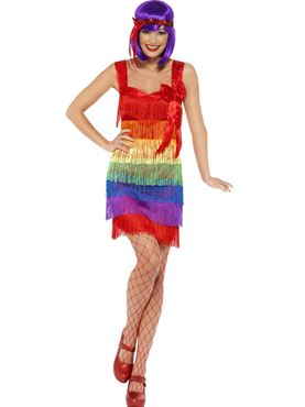 Adult Rainbow Flapper Costume