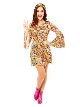Adult Rainbow Hippy Costume