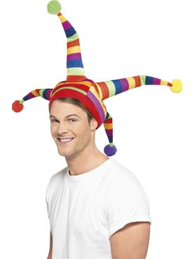 Adult Rainbow Jester Hat