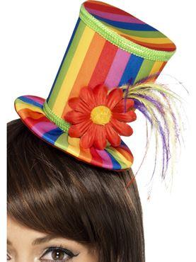 Adult Rainbow Mini Top Hat