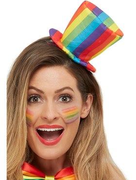 Adult Rainbow Mini Top Hat - Back View