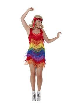 Adult Rainbow Pride 20s Flapper Dress