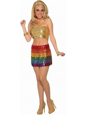 Adult Rainbow Sequin Skirt