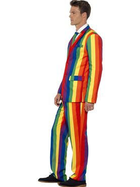 Adult Rainbow Stand Out Suit - Back View