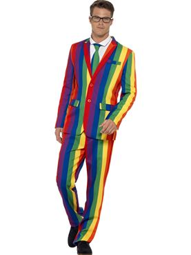 Adult Rainbow Stand Out Suit Couples Costume