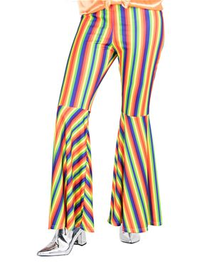 Adult Rainbow Striped Flares