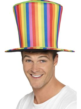 Adult Rainbow Top Hat