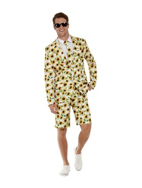 Adult Ray Of Sunshine Sunflower Suit - Side View