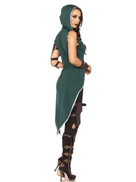 Adult Rebel Robin Hood Costume - Back View