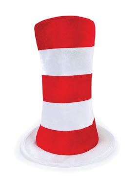 Adult Red & White Striped Hat