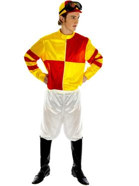 Adult Red & Yellow Jockey Costume