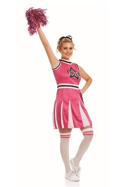 Adult pink cheerleader costume fs4245 fancy dress ball adult pink cheerleader costume solutioingenieria Images